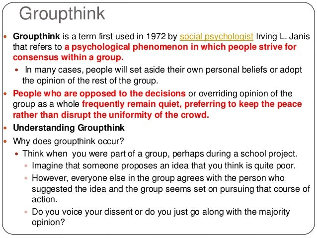 history of groupthink theory