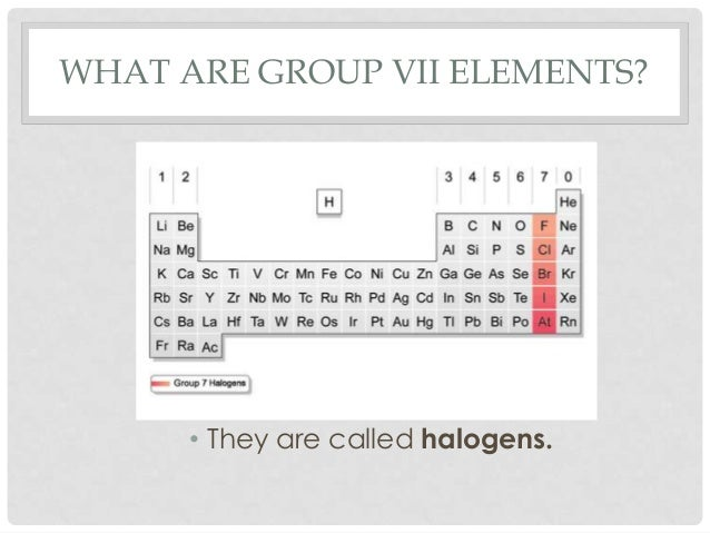 Group Vii Elements Halogens