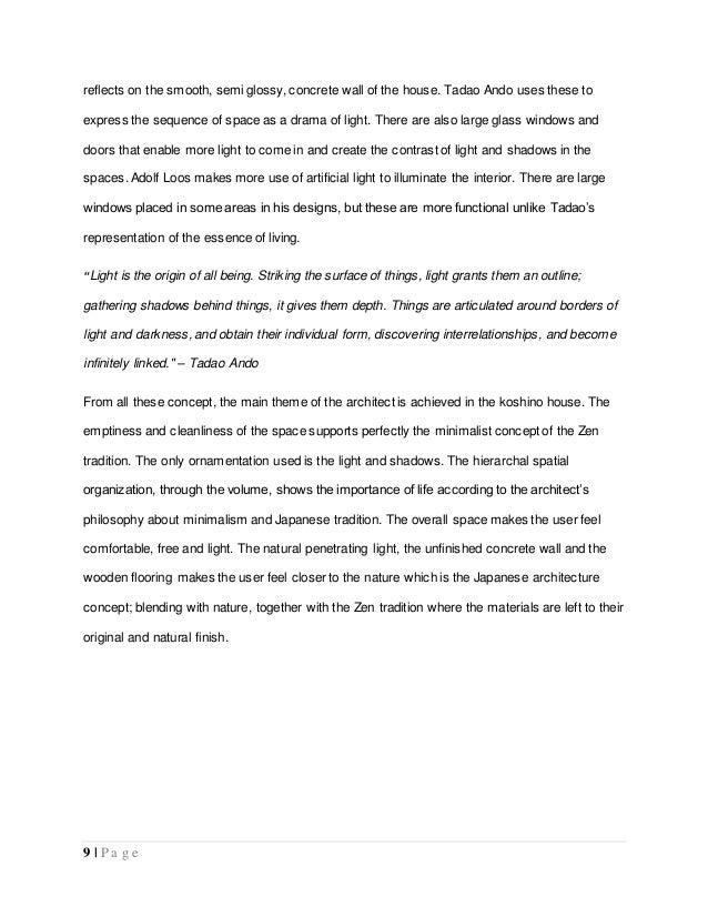 house analysis essay koshino house analysis essay