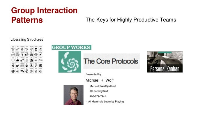 Group InteractionPatterns                The Keys for Highly Productive TeamsLiberating Structures                        ...