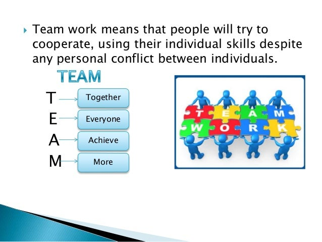 difference between teamwork and group work pdf