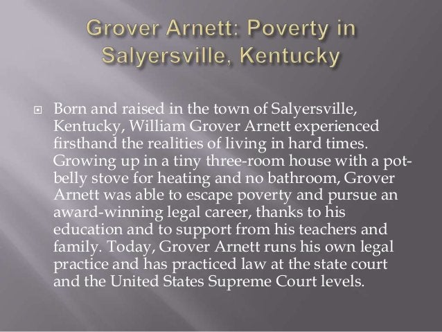  Salyersville is no stranger to poverty, having experienced hardship during the American Civil War and during the Great D...