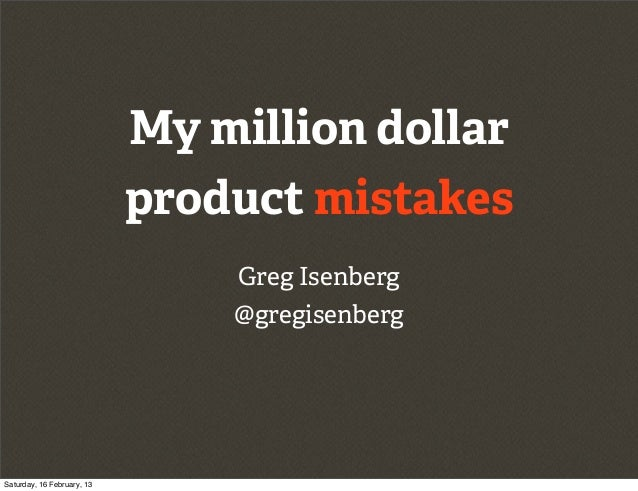 My million dollar                            product mistakes                                Greg Isenberg                ...