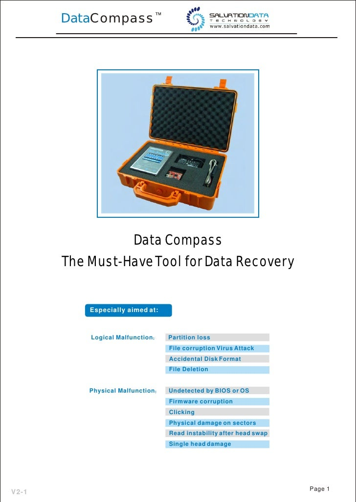 DataCompass                      Data Compass        The Must-Have Tool for Data Recovery              Especially aimed at...