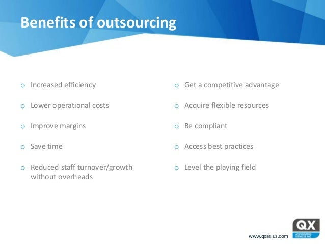 Sample Essay on Benefits of Outsourcing
