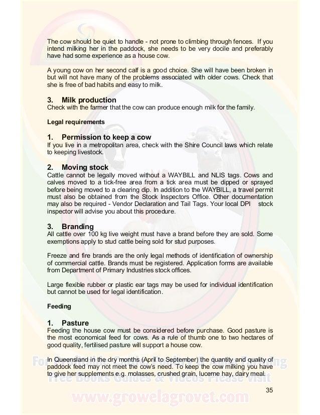 Growel Cattle Farming Manual