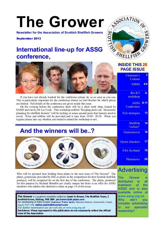 The Grower: Newsletter for the Association of Scottish Shellfish Gro…