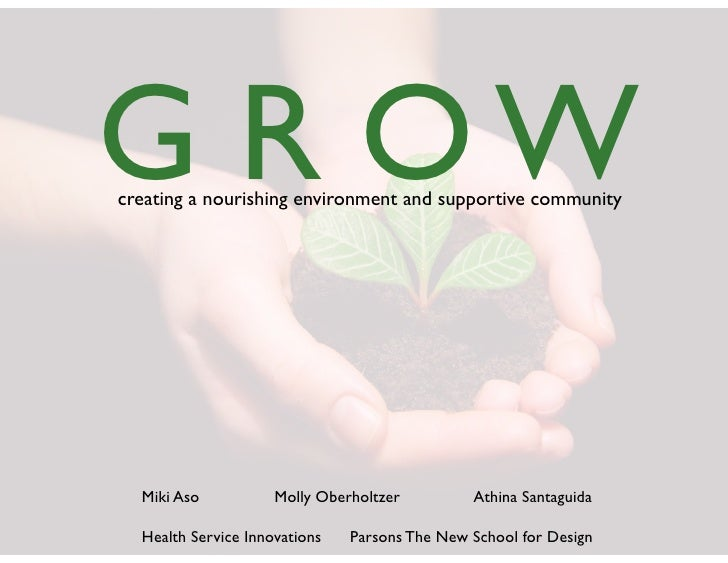 G  R  O  W creating  a  nourishing  environment  and  supportive  community        Miki  Aso             Moll...