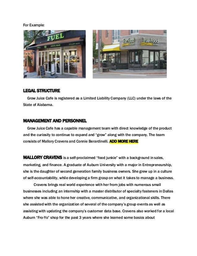 Grow - A juice cafe business plan