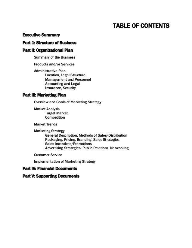 management part of business plan