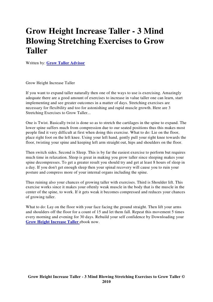 how to grow taller exercises with pictures