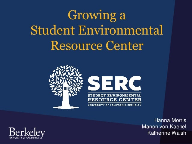Growing a Student Environmental Resource Center Hanna Morris Manon von Kaenel Katherine Walsh