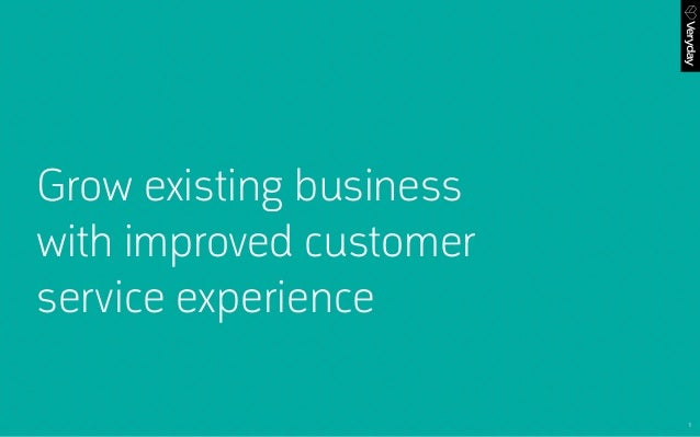 1 Grow existing business with improved customer service experience