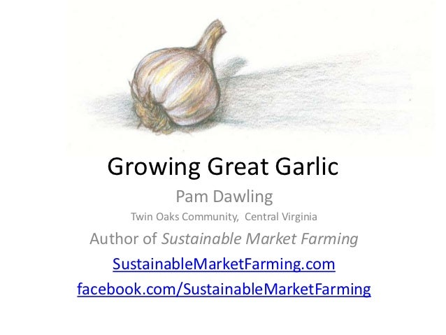 Growing Great Garlic              Pam Dawling      Twin Oaks Community, Central Virginia  Author of Sustainable Market Far...