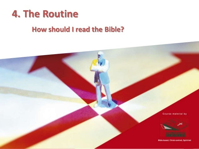 THE MISSION What is the goal of Bible reading?