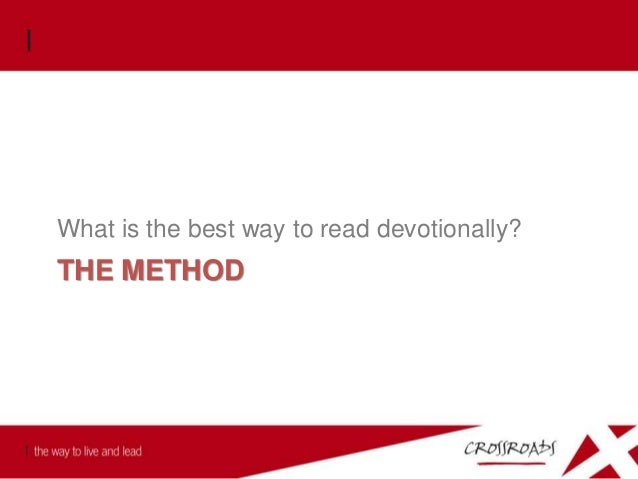 The Method 1. Our desire is to get the word of God into the heart of man. 2. Trying to memorise portions of scripture has ...