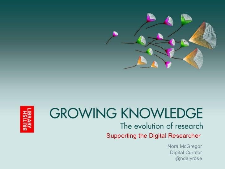 Supporting the Digital Researcher                     Nora McGregor                      Digital Curator                  ...
