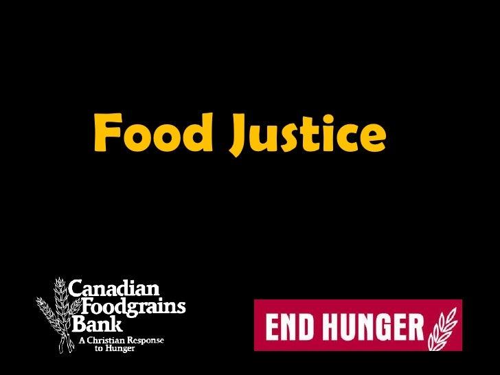 Food Justice<br />