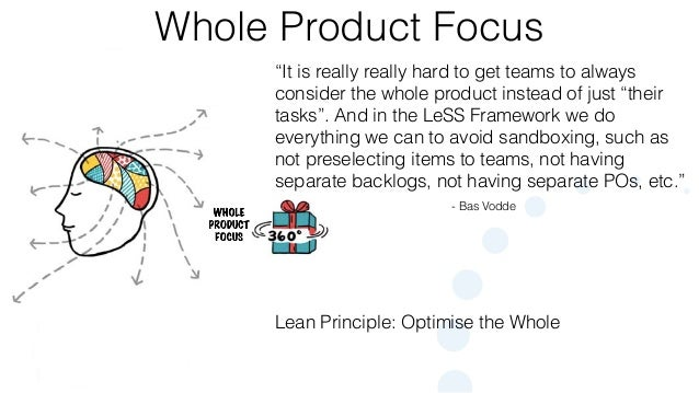 """© 2015 Scrum WithStyle scrumwithstyle.com Whole Product Focus - Bas Vodde """"It is really really hard to get teams to always..."""