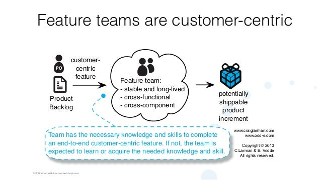 © 2015 Scrum WithStyle scrumwithstyle.com Feature teams are customer-centric Team has the necessary knowledge and skills t...