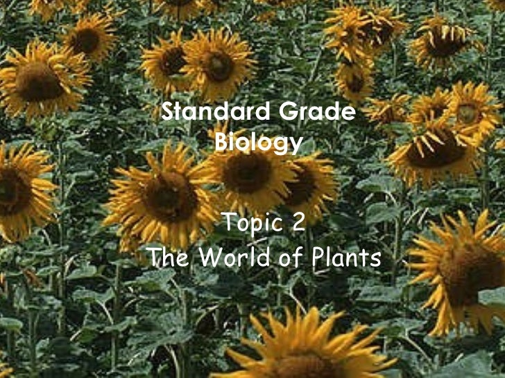 Topic 2 The World of Plants Standard Grade Biology
