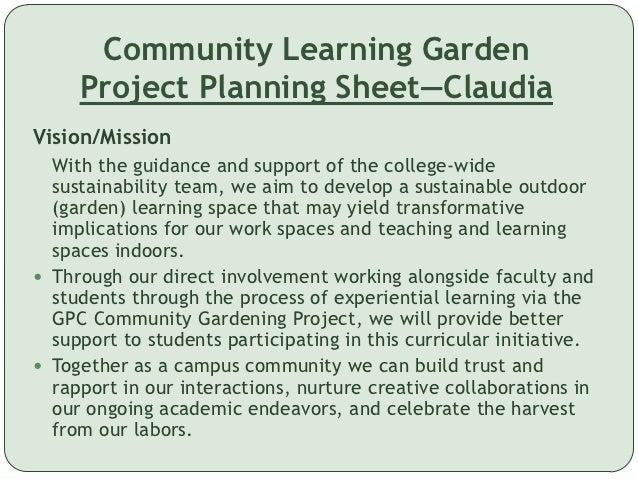Learning through gardening essay