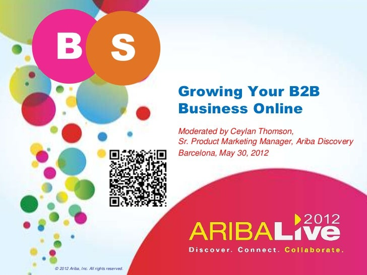 B S                                          Growing Your B2B                                          Business Online    ...