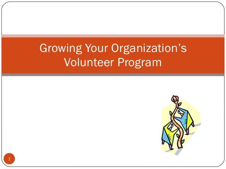 Growing Your Organization's Volunteer Program