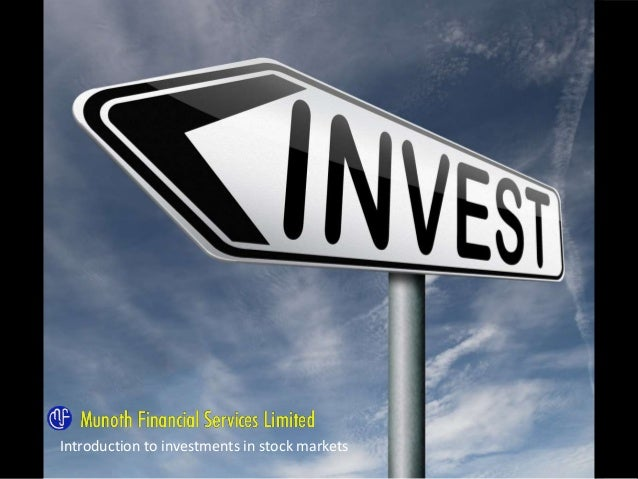 Introduction to Portfolio Management Services Introduction to investments in stock markets