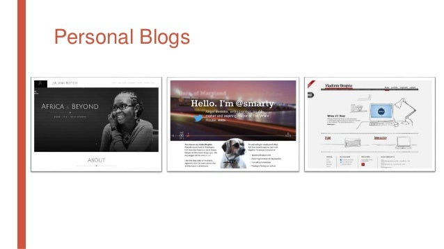 Personal Blogs