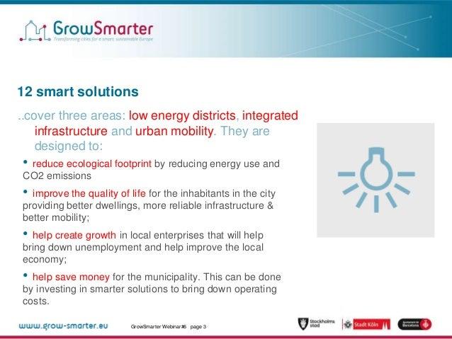 Monitoring and Evaluation in GrowSmarter Slide 3