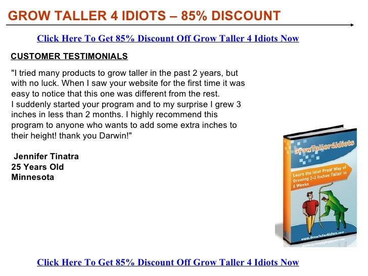 Grow Taller For Idiots Pdf