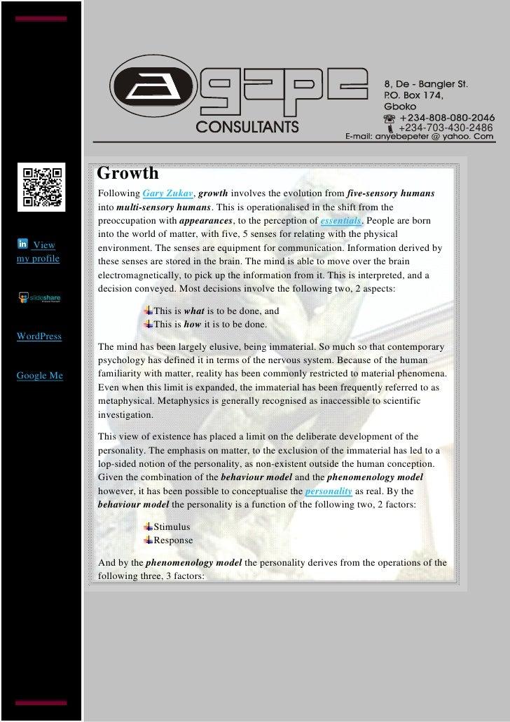 +234-703-430-2486             Growth             Following Gary Zukav, growth involves the evolution from five-sensory hum...