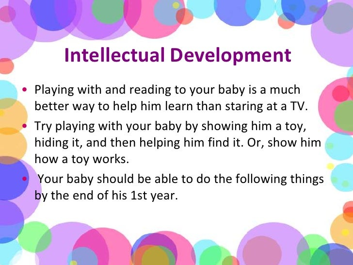 intellectual growth and development