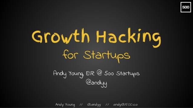 Growth Hacking for Startups Slide 1