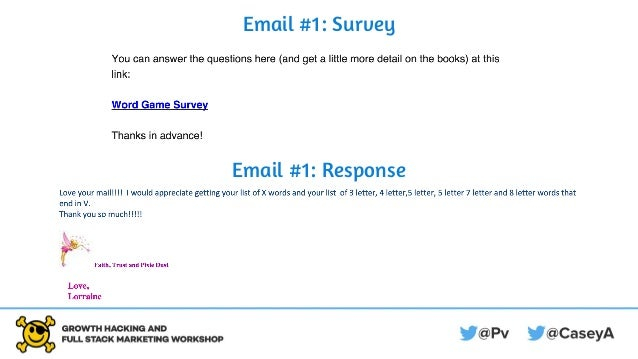 Email #1: Survey Email #1: Response