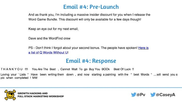 Email #4: Pre-Launch Email #4: Response