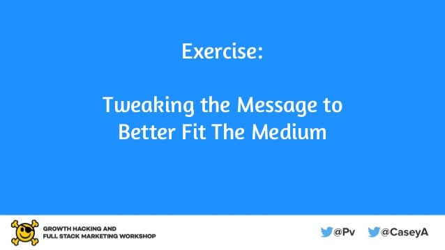 Exercise: Tweaking the Message to Better Fit The Medium