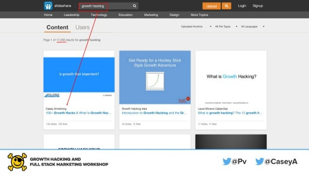 Slideshare is a search engine.