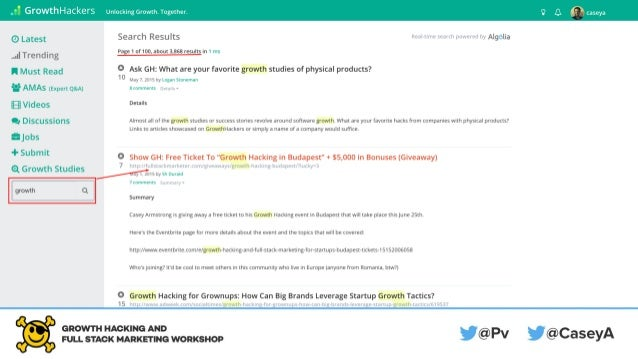 GrowthHackers.com is a search engine.