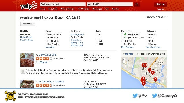 Yelp is a search engine.