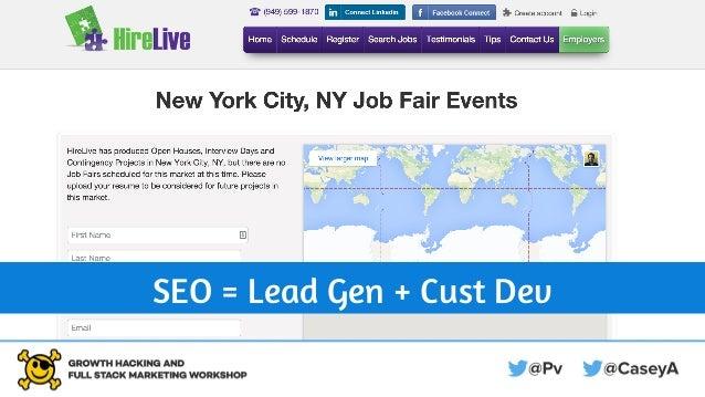 SEO = Lead Gen + Cust Dev
