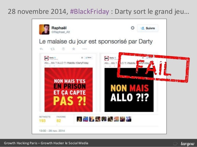 28 novembre 2014, #BlackFriday : Darty sort le grand jeu… Growth Hacking Paris – Growth Hacker le Social Media