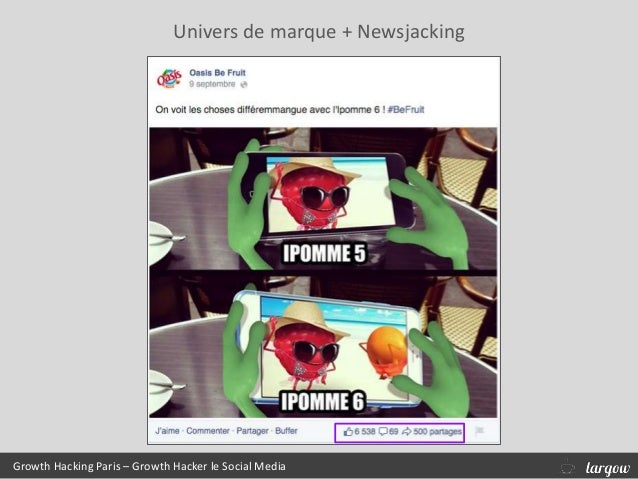 Growth Hacking Paris – Growth Hacker le Social Media Univers de marque + Newsjacking