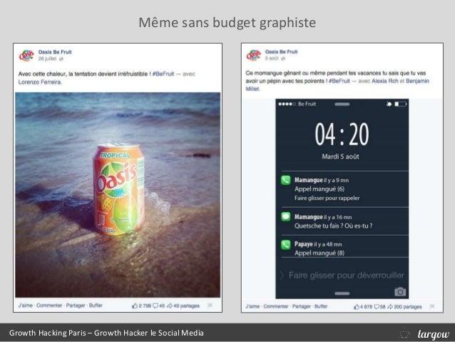 Growth Hacking Paris – Growth Hacker le Social Media Même sans budget graphiste