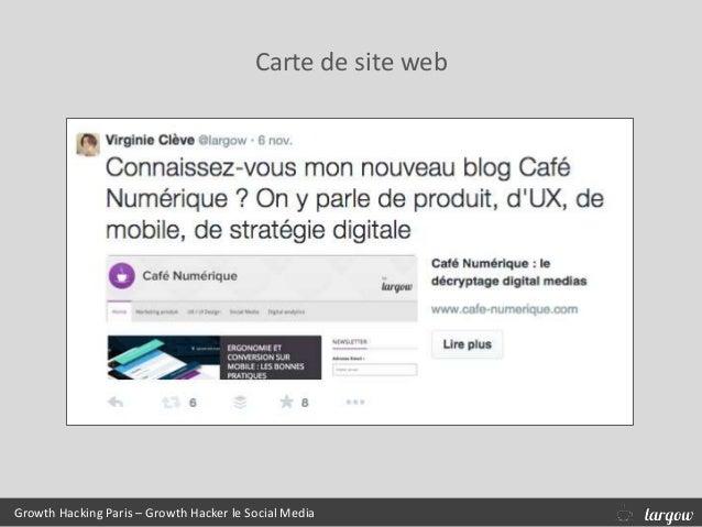 Growth Hacking Paris – Growth Hacker le Social Media Carte de site web