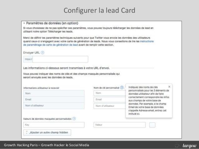 Growth Hacking Paris – Growth Hacker le Social Media Configurer la lead Card