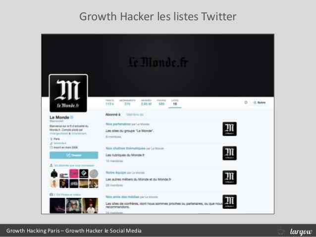 Growth Hacker les listes Twitter Growth Hacking Paris – Growth Hacker le Social Media