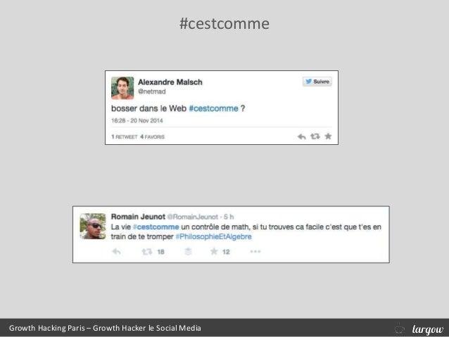 #cestcomme Growth Hacking Paris – Growth Hacker le Social Media