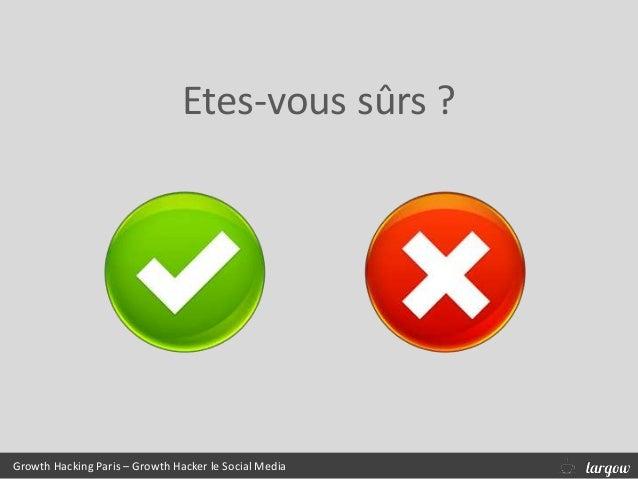 Growth Hacking Paris – Growth Hacker le Social Media Etes-vous sûrs ?
